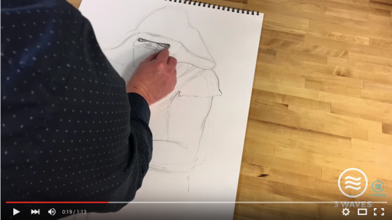 screenshot of drawing video