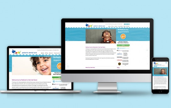 Pediatric Dental Care Website redesign by 3 waves media